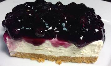 Quick Blueberry Cheesecake